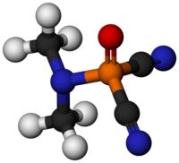 Dimethylamidophosphoric dicyanide 3D model