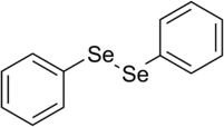 Chemical structure of diphenyl diselenide