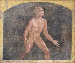 Discobolus - Roman discus thrower from Stabiae, Villa Arianna, 1st century AD