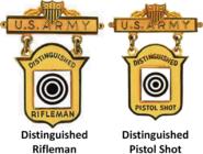 Distinguished Marksmanship Badges