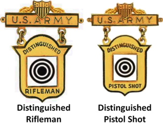 Awards and decorations of the United States Army - Image: Distinguished Marksmanship Badges