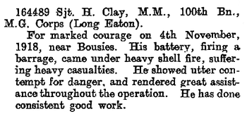 Distinguished conduct medal citation in london gazette