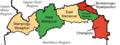 Districts of the North East Region (2018).png