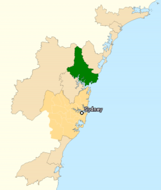 Division of Robertson - Division of Robertson in New South Wales, as of the 2016 federal election.