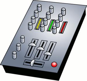 A dj mixing icon