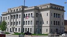 Dodge County, Nebraska courthouse from NE 1.JPG