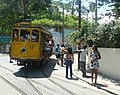Dois Irmãos terminal of Santa Teresa Tramway with car 12 in the wye (2008).jpg