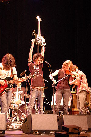 Post-rock - Post-rock group Do Make Say Think performing at a May 2007 concert.