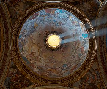 Dome of cappella sacripante in Sant'Ignazio (Rome) HDR