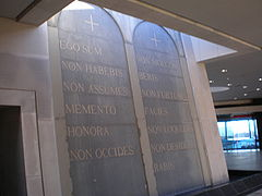 Domus Galilaeae Latin Ten Commandments