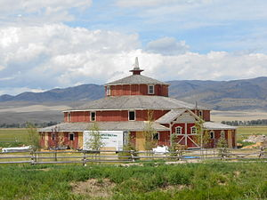 National Register of Historic Places listings in Madison County, Montana - Image: Doncaster Round Barn 04