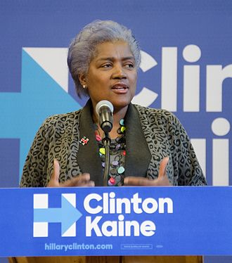 Donna Brazile - Brazile campaigns for Hillary Clinton at Nashua Community College in New Hampshire, October 7, 2016.