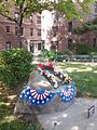 Dorie Miller Apartments with Memorial - Corona NY - Memorial Day 2015.jpg