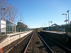 Douglas Park railway station view from railway crossing.JPG