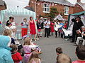 Dove release at Whitwell Diamond Jubilee 2012 street party 7.JPG