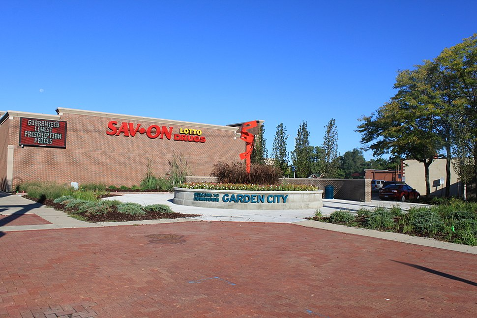 Downtown Garden City Michigan Welcome Sign