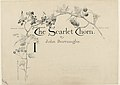 Drawing, Design for the Title Page of The Scarlet Thorn, by John Burroughs, published in St. Nicolas, July 1892, 1892 (CH 18384797).jpg