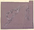 """Drawing, studies of drapery for """"Fortune"""" figure, ca. 1877 (CH 18404511).jpg"""