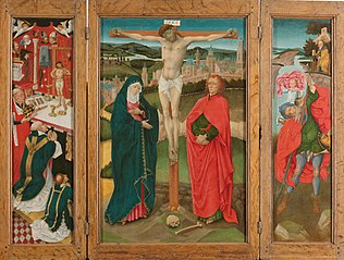 Triptych with the Crucifixion