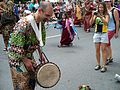 Drummer in a parade.JPG