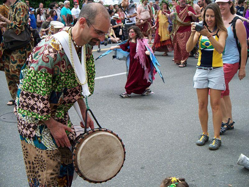 Drummer in a parade.JPG