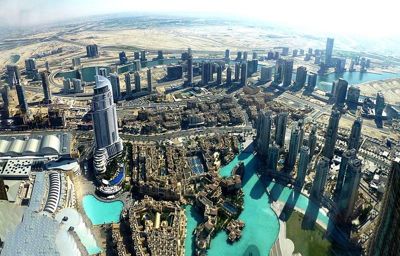File:Dubai - View from the Burj Khalifa - Finacial Centre Road - Business Bay - المنظر من برج خليفة - Finacial شارع المركز - الخليج التجاري - panoramio (2).jpg
