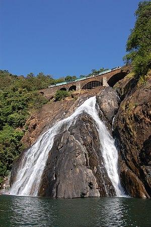 Dudhsagar Falls - Lower half of Dudhsagar Falls