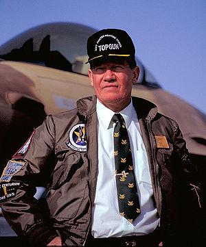 Duke Cunningham - Congressman Cunningham at TOPGUN, 1991.
