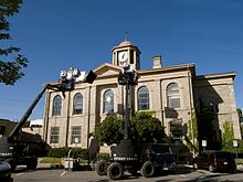 Dundas Town hall film set.jpg