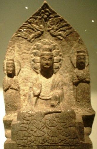 Eastern Wei - Buddha triad, Eastern Wei (534-550), China.