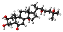Ball-and-stick model of the ecdysone molecule