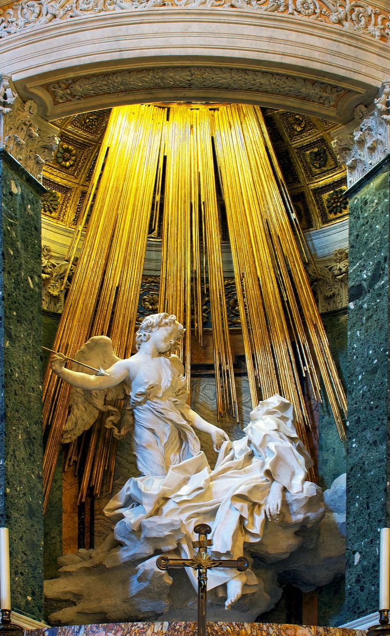 Ecstasy of St. Teresa Baroque Architecture Sculpture