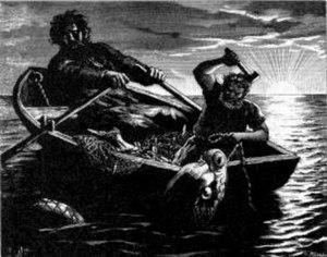 Hymir - Thor and Hymir fishing.