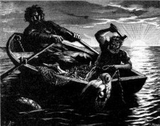 Hymir - Thor and Hymir fishing.
