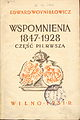 Edward Woynillowicz memoirs - book title page 1931 AD.jpg