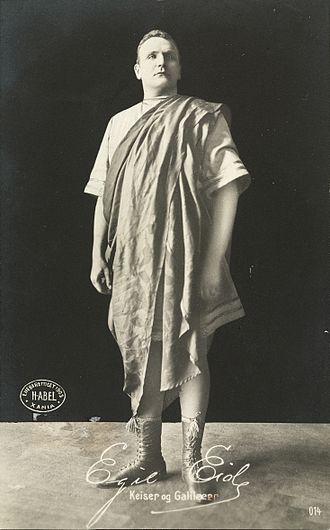 Emperor and Galilean - Egil Eide as Julian in the 1903 Oslo premiere of Emperor and Galilean