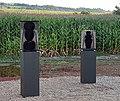 """Egon Straszer Skulpturen """"schmetterlingsraupe"""" """"erinnerungs stück"""".jpg"""