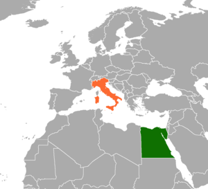 Egypt–Italy relations - Image: Egypt Italy locator