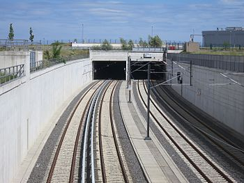 Bahnstrecke Grünauer Kreuzberlin Flughafen Ber Wikipedia