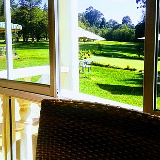 Eldoret - The breakfast room at Eldoret Club, overlooking the golf course