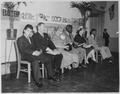 Eleanor Roosevelt and Jackie Robinson at the Manhattan School for Boys - NARA - 195408.tif