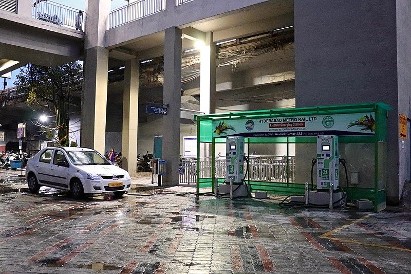 File:Electric car charging station in Begumpet, Hyderabad.jpg