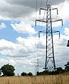 Electricity pylons on the northern edge of Hazelmere Hole - geograph.org.uk - 1411221.jpg
