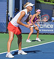 Elena Vesnina and Vera Zvonareva at the 2010 US Open 02.jpg