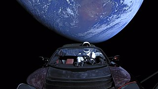 Elon Musks Tesla Roadster Sports car launched into space in 2018