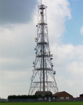 RAF Elsham Wolds - Elsham Hill. The large radio and telephone mast on top of Elsham hill, on land that once was the war time bomber airfield of RAF Elsham Wold