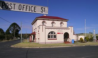 Emmaville, New South Wales - Post Office and war memorial, Emmaville, NSW