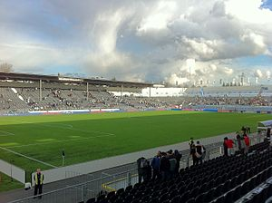 Empire Field - The field in soccer configuration on April 2, 2011