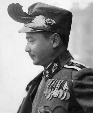 Engelbert Dollfuss - Dollfuss pictured in Kaiserschützen uniform, 1933.