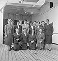 English women's cricket team, after arrival in Wellington, 1957.jpg